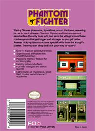 Box back cover for Phantom Fighter on the Nintendo NES.
