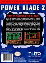 Box back cover for Power Blade 2 on the Nintendo NES.