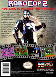Box back cover for Robocop 2 on the Nintendo NES.