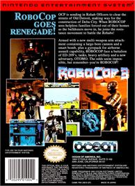 Box back cover for Robocop 3 on the Nintendo NES.
