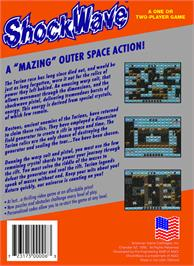 Box back cover for Shock Wave on the Nintendo NES.