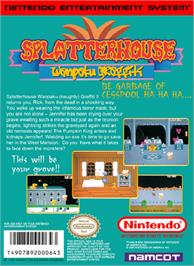 Box back cover for Splatterhouse: Wanpaku Graffiti on the Nintendo NES.