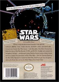 Box back cover for Star Wars on the Nintendo NES.
