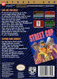 Box back cover for Street Cop on the Nintendo NES.