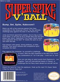 Box back cover for Super Spike V'Ball / Nintendo World Cup on the Nintendo NES.