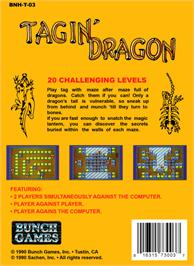 Box back cover for Tagin' Dragon on the Nintendo NES.