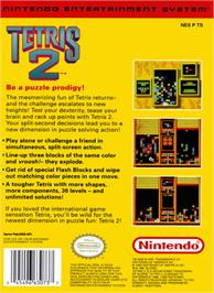 Box back cover for Tetris 2 on the Nintendo NES.