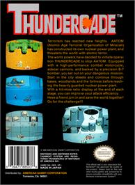 Box back cover for Thundercade / Twin Formation on the Nintendo NES.