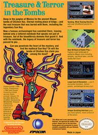 Box back cover for Tombs & Treasure on the Nintendo NES.