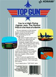 Box back cover for Top Gun: The Second Mission on the Nintendo NES.