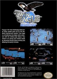 Box back cover for Twin Eagle - Revenge Joe's Brother on the Nintendo NES.
