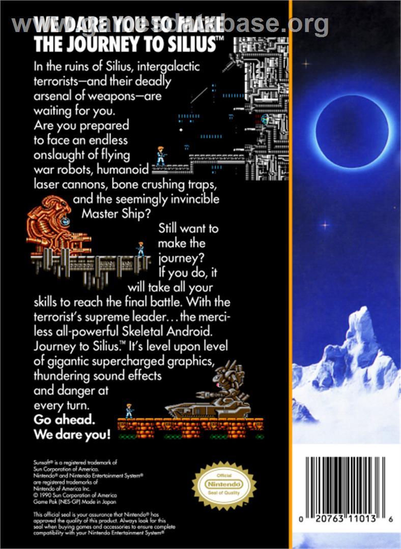 Journey to Silius - Nintendo NES - Artwork - Box Back