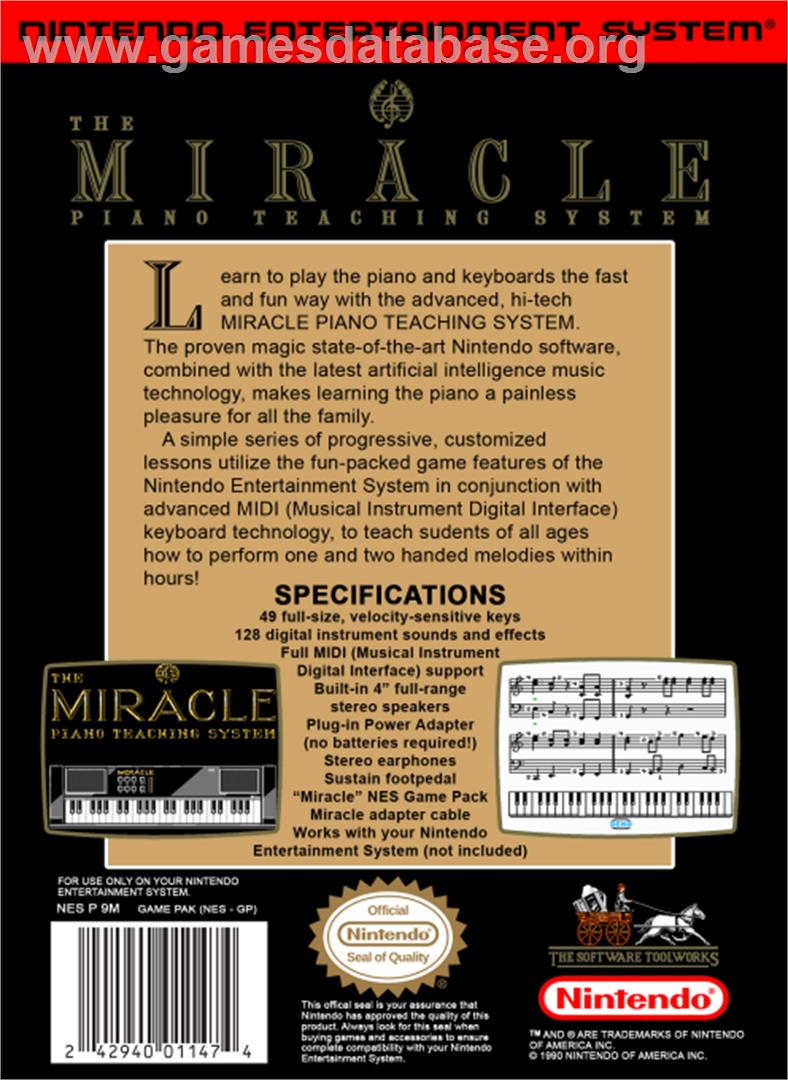 Miracle Piano Teaching System Nintendo Nes Games Database