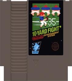 Cartridge artwork for 10-Yard Fight on the Nintendo NES.