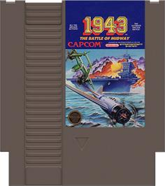 Cartridge artwork for 1943: The Battle of Midway on the Nintendo NES.