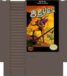 Cartridge artwork for 8 Eyes on the Nintendo NES.