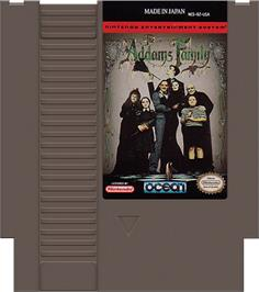 Cartridge artwork for Addams Family, The on the Nintendo NES.