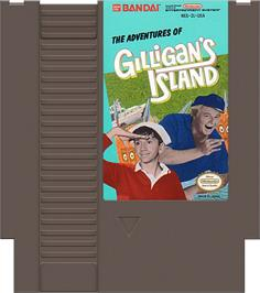 Cartridge artwork for Adventures of Gilligan's Island on the Nintendo NES.