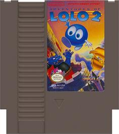 Cartridge artwork for Adventures of Lolo 2 on the Nintendo NES.