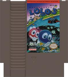 Cartridge artwork for Adventures of Lolo  3 on the Nintendo NES.