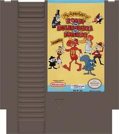 Cartridge artwork for Adventures of Rocky and Bullwinkle and Friends on the Nintendo NES.