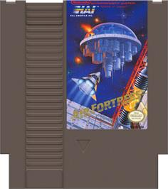 Cartridge artwork for Air Fortress on the Nintendo NES.