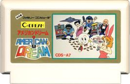 Cartridge artwork for American Dream on the Nintendo NES.
