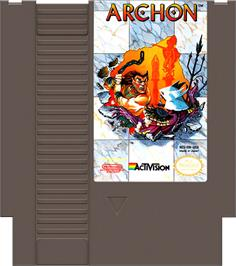 Cartridge artwork for Archon: The Light and the Dark on the Nintendo NES.