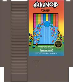 Cartridge artwork for Arkanoid on the Nintendo NES.