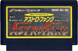 Cartridge artwork for Astro Fang: Super Machine on the Nintendo NES.