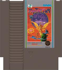 Cartridge artwork for Athena on the Nintendo NES.