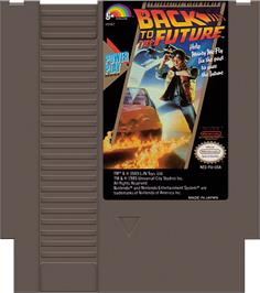 Cartridge artwork for Back to the Future on the Nintendo NES.