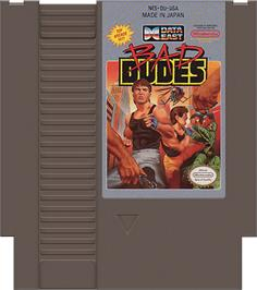 Cartridge artwork for Bad Dudes on the Nintendo NES.