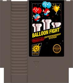 Cartridge artwork for Balloon Fight on the Nintendo NES.