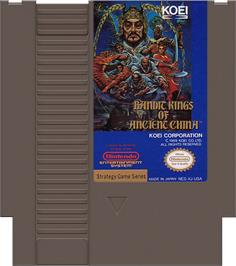 Cartridge artwork for Bandit Kings of Ancient China on the Nintendo NES.