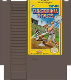 Cartridge artwork for Baseball Stars on the Nintendo NES.