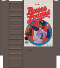 Cartridge artwork for Bases Loaded on the Nintendo NES.