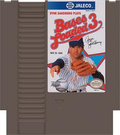 Cartridge artwork for Bases Loaded 3 on the Nintendo NES.