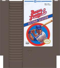 Cartridge artwork for Bases Loaded II: Second Season on the Nintendo NES.