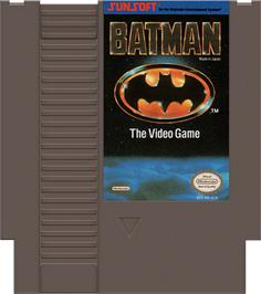 Cartridge artwork for Batman: The Video Game on the Nintendo NES.