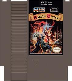 Cartridge artwork for Battle Chess on the Nintendo NES.