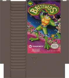 Cartridge artwork for Battle Toads on the Nintendo NES.