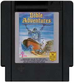 Cartridge artwork for Bible Adventures on the Nintendo NES.