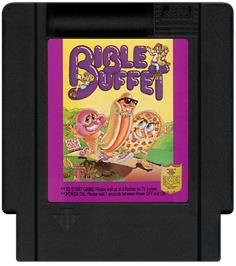 Cartridge artwork for Bible Buffet on the Nintendo NES.