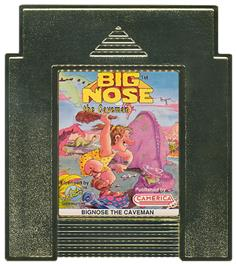 Cartridge artwork for Big Nose the Caveman on the Nintendo NES.