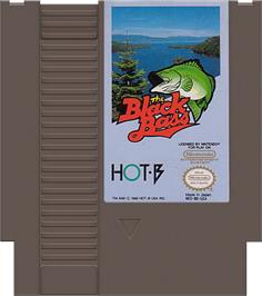 Cartridge artwork for Black Bass on the Nintendo NES.
