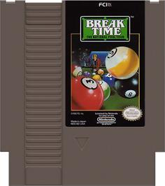 Cartridge artwork for Break Time: The National Pool Tour on the Nintendo NES.