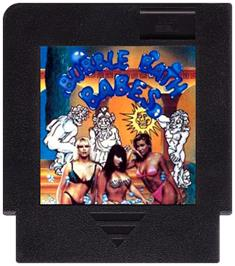 Cartridge artwork for Bubble Bath Babes on the Nintendo NES.