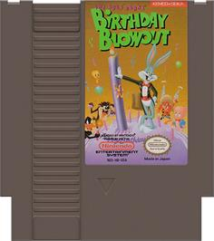 Cartridge artwork for Bugs Bunny Birthday Blowout on the Nintendo NES.