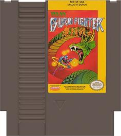 Cartridge artwork for Burai Fighter on the Nintendo NES.